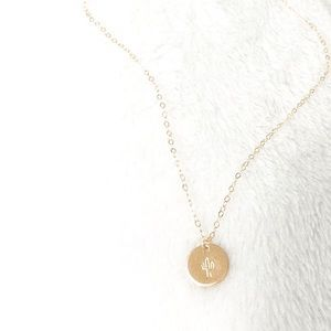 Gold Fill Hand Stamped Necklace